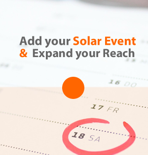 Add your Solar Event and Expand your Reach | Solar Business Hub | Events Directory | Worldwide