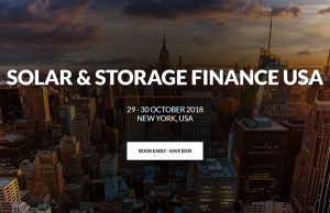 Solar and Storage Finance USA - New York, October 2018