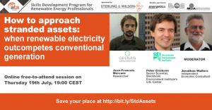Webinar: How to approach stranded assets when renewable electricity outcompetes conventional generation