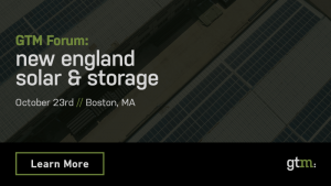 GTM Forum: New England Solar & Storage
