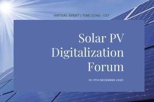 Solar PV Digitalization Forum